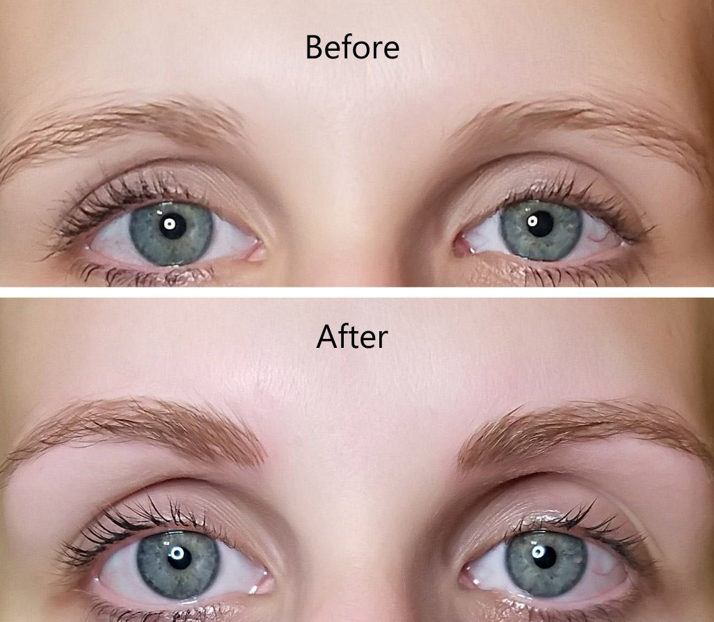 before-after-eyebrows - north dallas permanent cosmetics